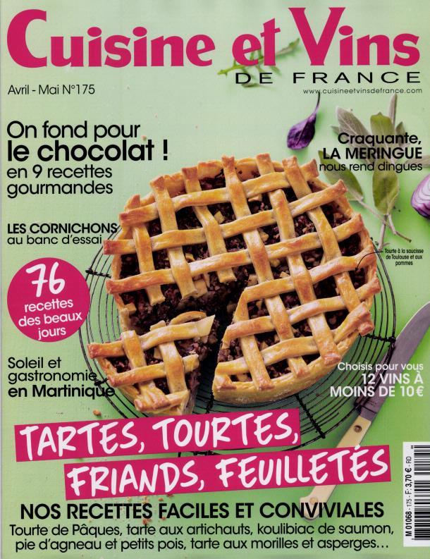 Cuisine et Vins de France N° 175 Mars 2017