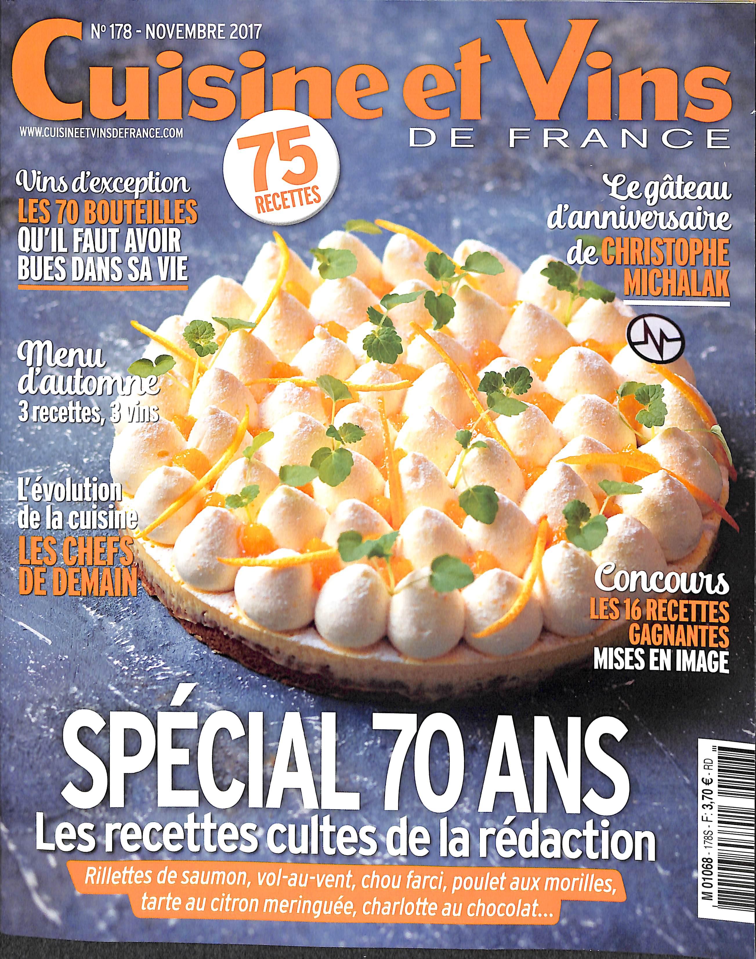 Cuisine et vins de france n 178 abonnement cuisine et for Abonnement cuisine et vins de france