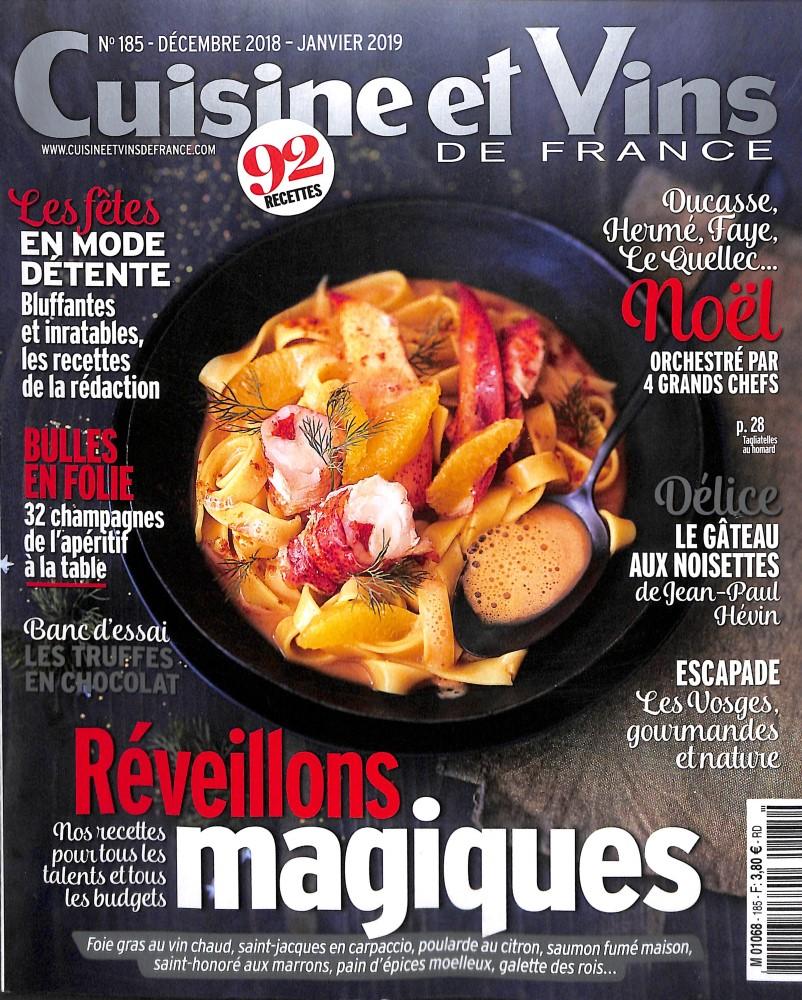 Cuisine et Vins de France N° 185 November 2018