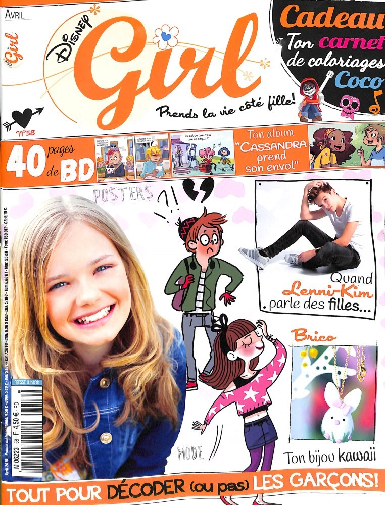 abonnement disney girl intermagazines. Black Bedroom Furniture Sets. Home Design Ideas