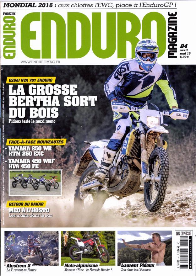 Enduro magazine N° 84 Mars 2016
