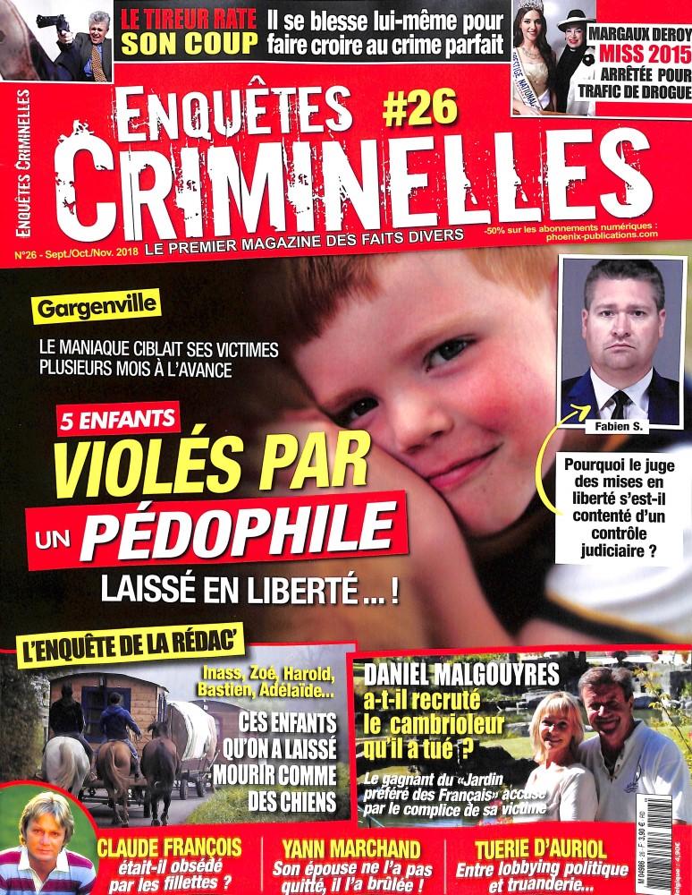 Enquêtes criminelles N° 26 August 2018