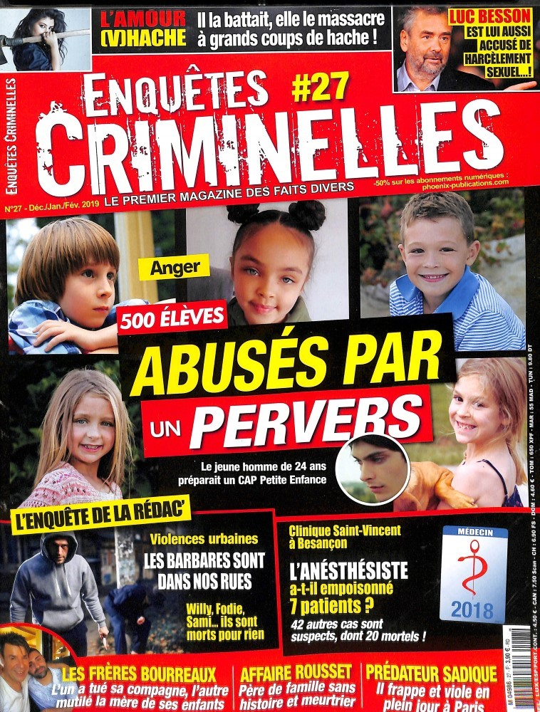 Enquêtes criminelles N° 27 December 2018