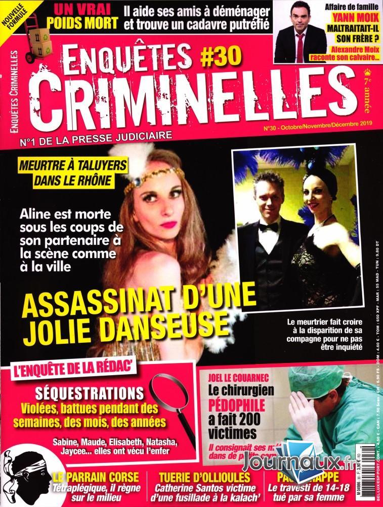 Enquêtes criminelles N° 30 Septembre 2019