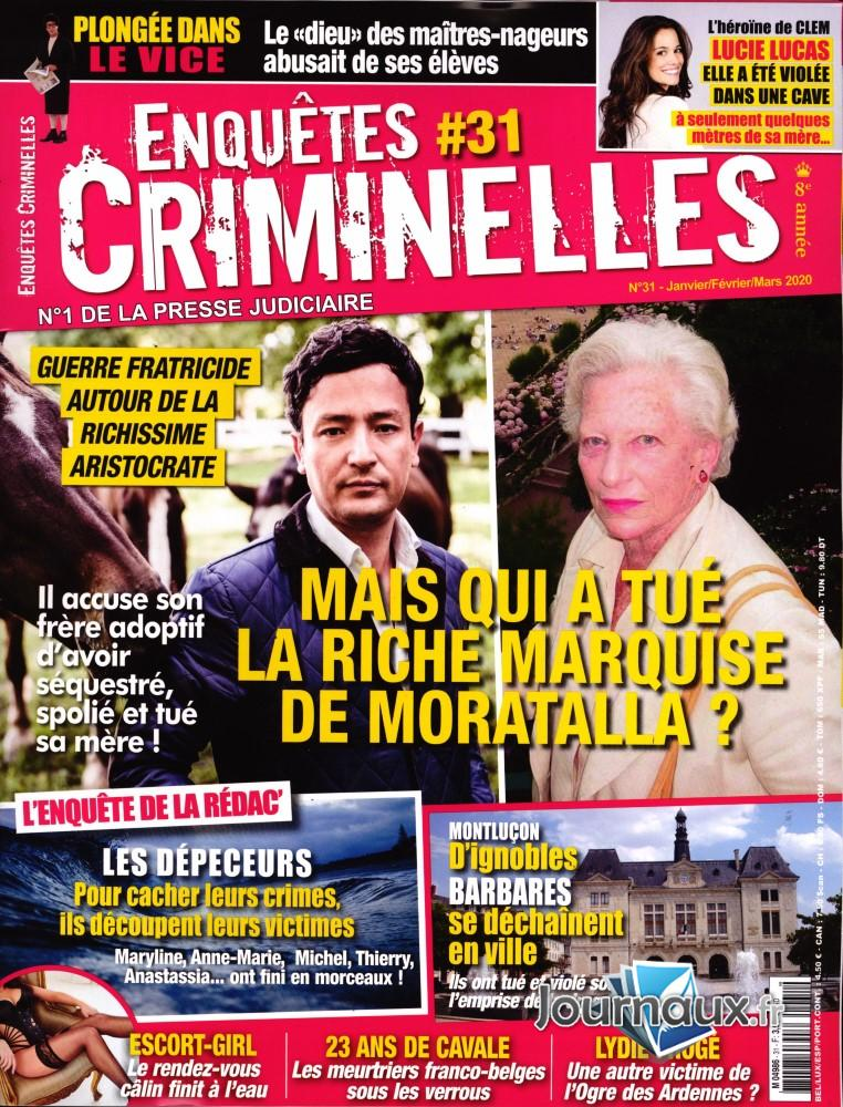 Enquêtes criminelles N° 31 Décembre 2019