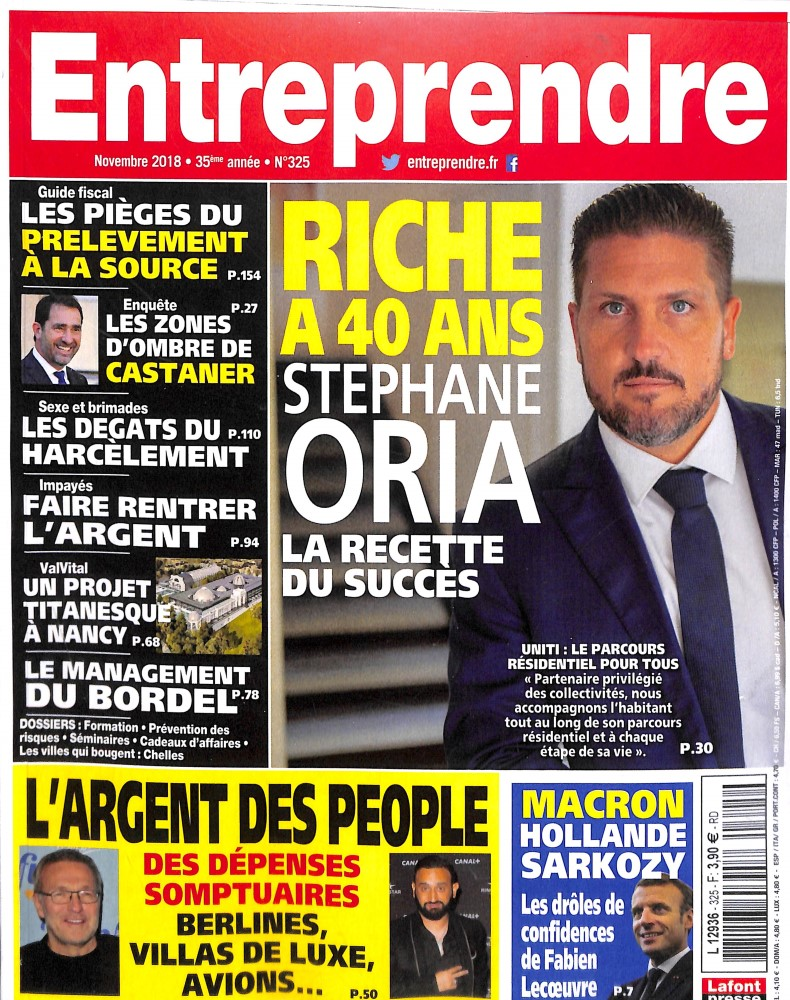 Entreprendre N° 325 November 2018