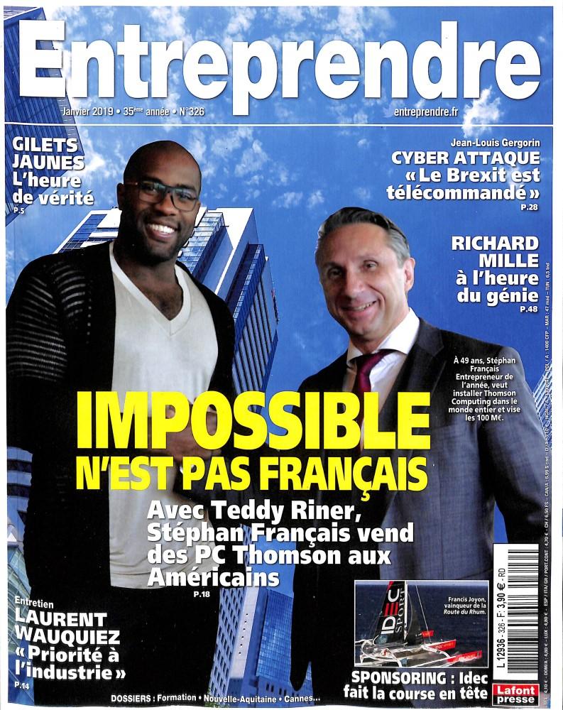 Entreprendre N° 326 Décembre 2018