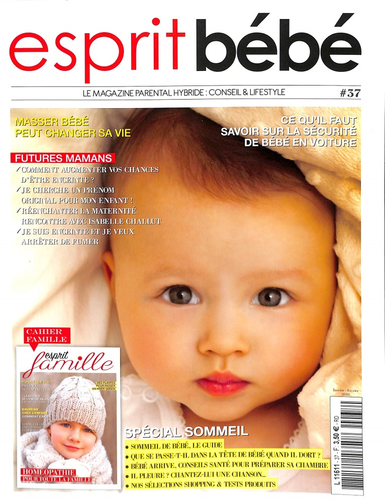 abonnement esprit bebe abonnement magazine par. Black Bedroom Furniture Sets. Home Design Ideas