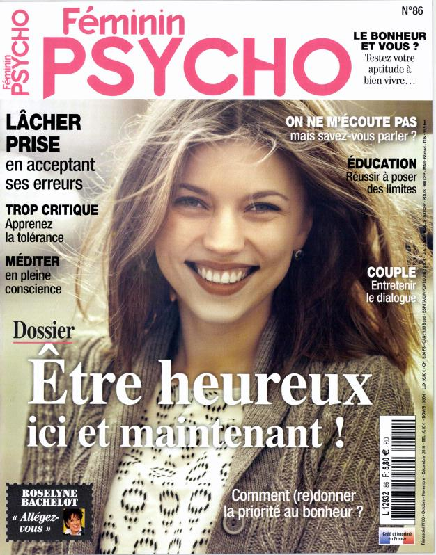 f minin psycho n 86 abonnement f minin psycho abonnement magazine par. Black Bedroom Furniture Sets. Home Design Ideas