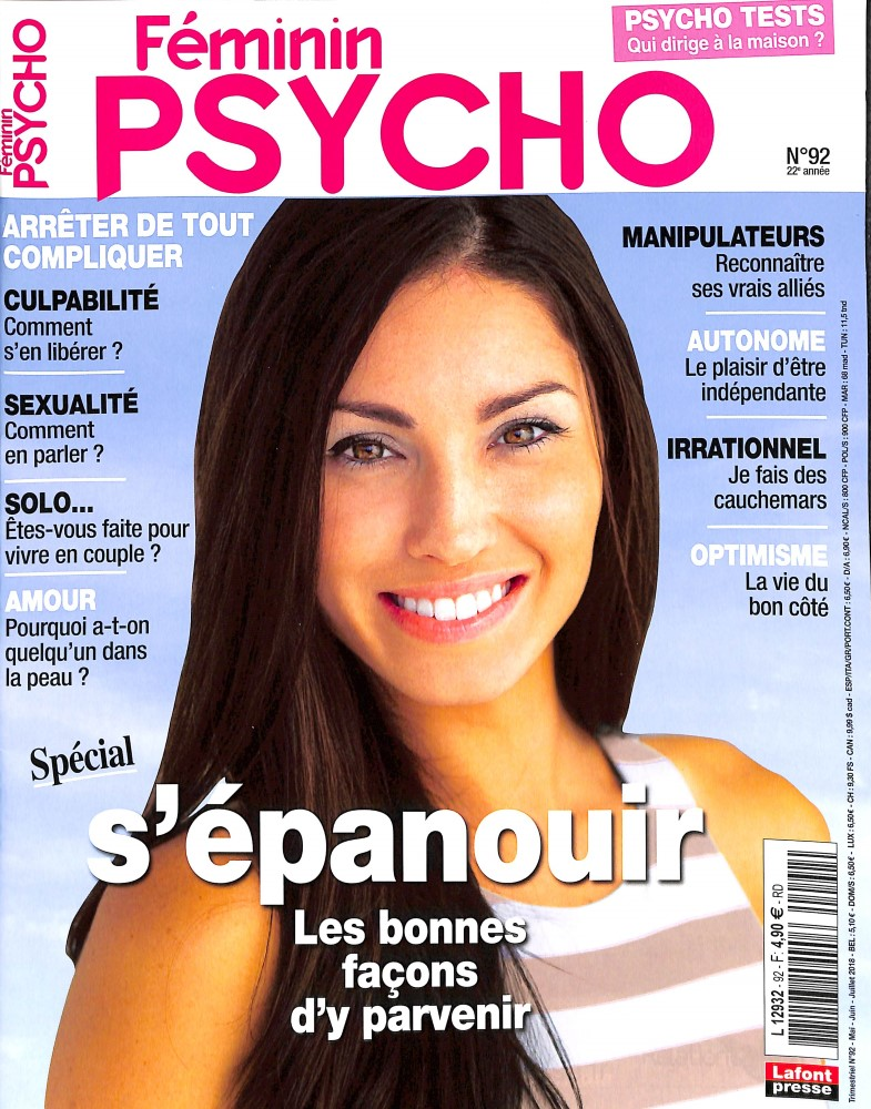 Féminin Psycho N° 92 April 2018