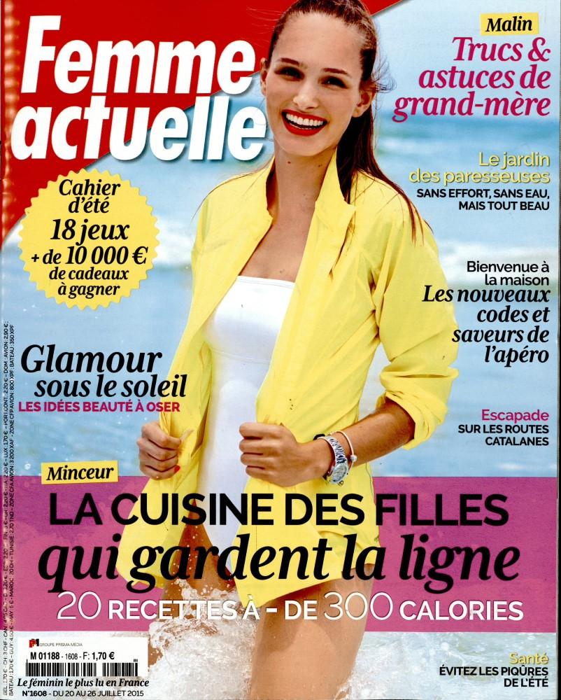 femme actuelle n 1608 abonnement femme actuelle abonnement magazine par. Black Bedroom Furniture Sets. Home Design Ideas