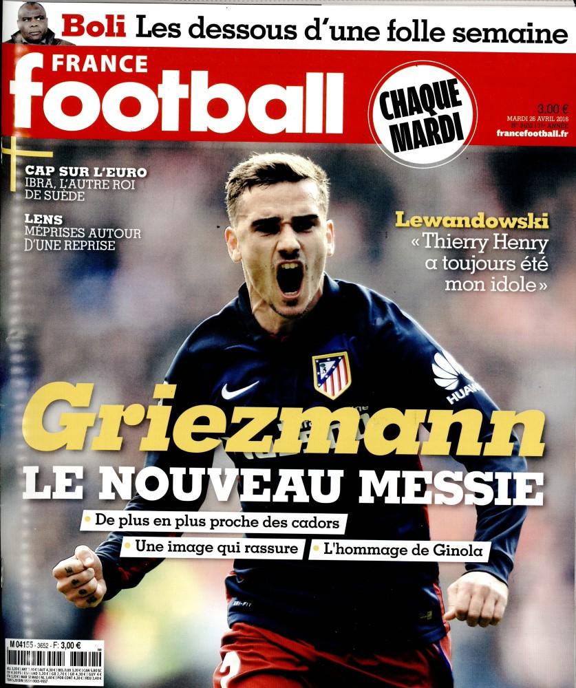 France Football N° 3652 Avril 2016