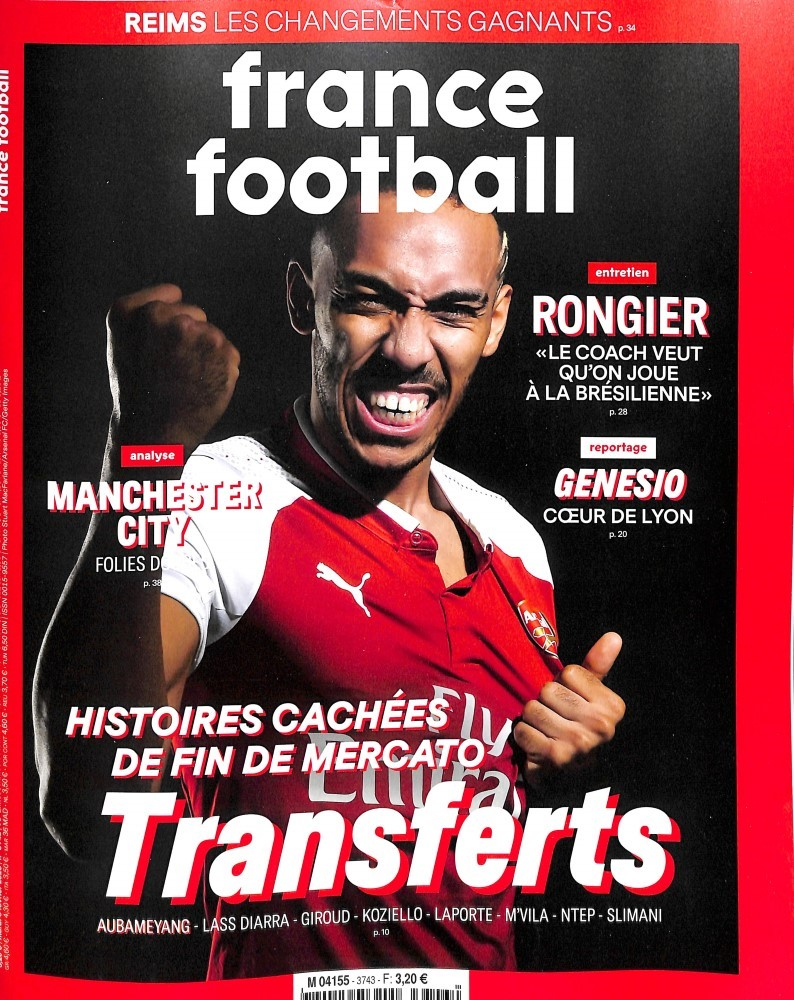 France Football N° 3741 Janvier 2018