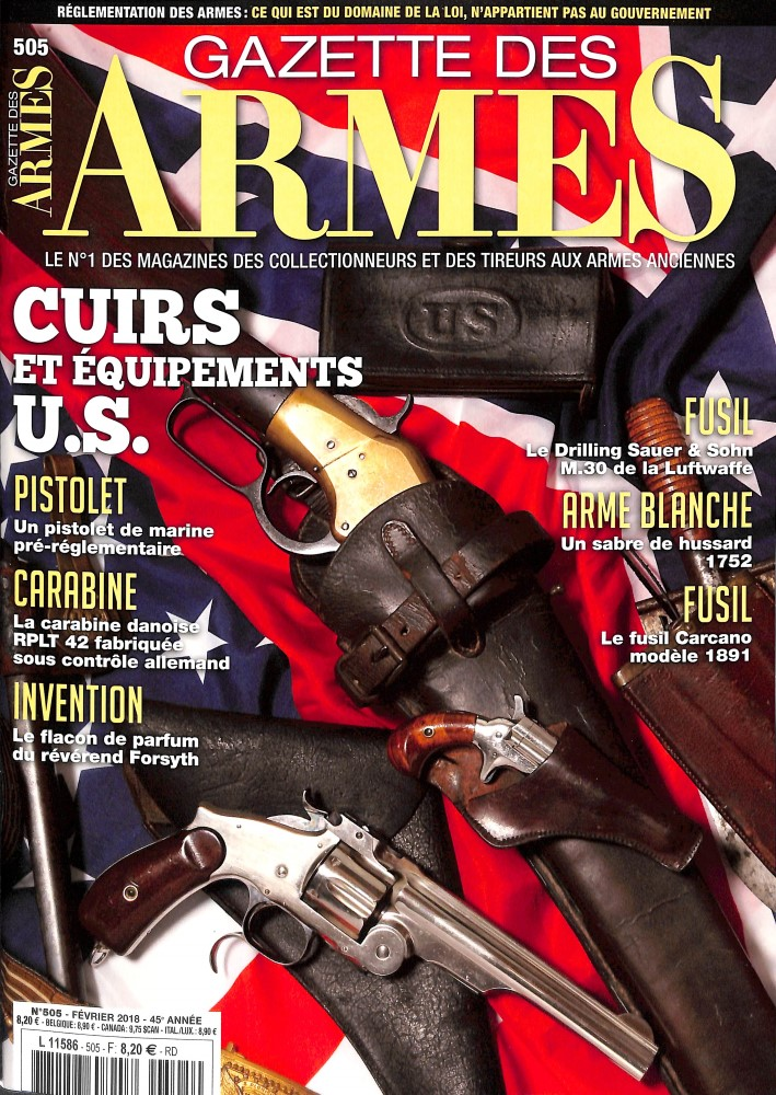 Gazette des Armes N° 504 Janvier 2018