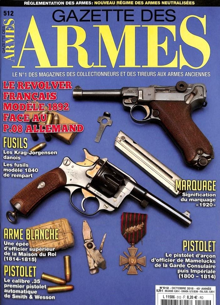 Gazette des Armes N° 512 October 2018