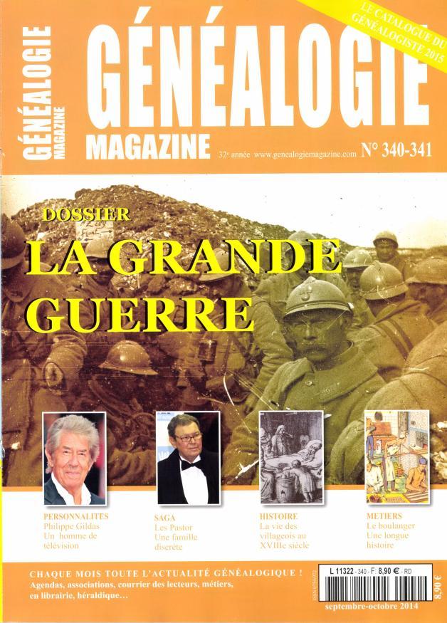 Généalogie magazine N° 377 Juillet 2019