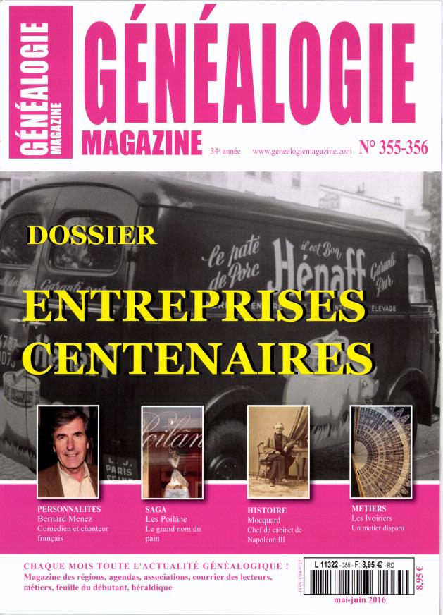 Abonnement genealogie magazine presse de france for Maison francaise magazine abonnement