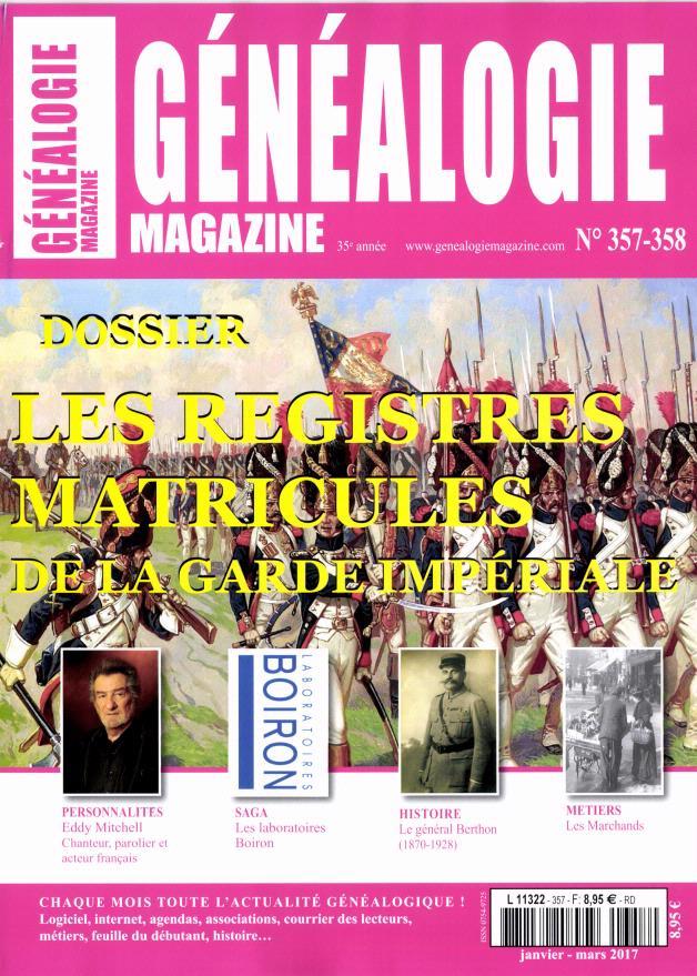 Généalogie magazine N° 357 Mars 2017