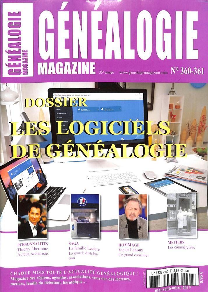 Généalogie magazine N° 360 Août 2017