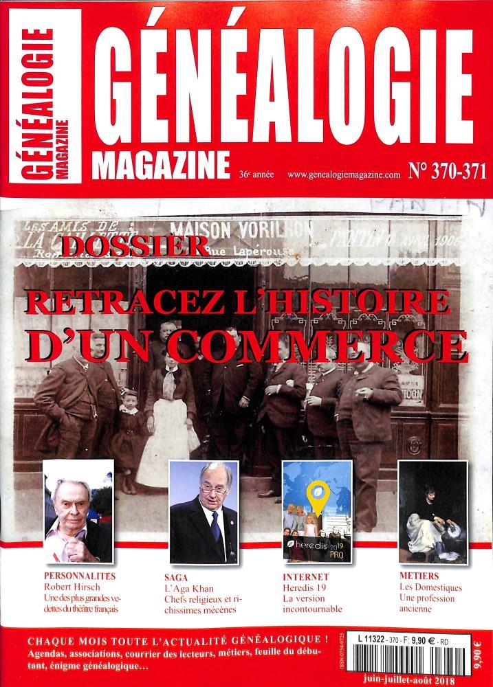 Généalogie magazine N° 370 October 2018