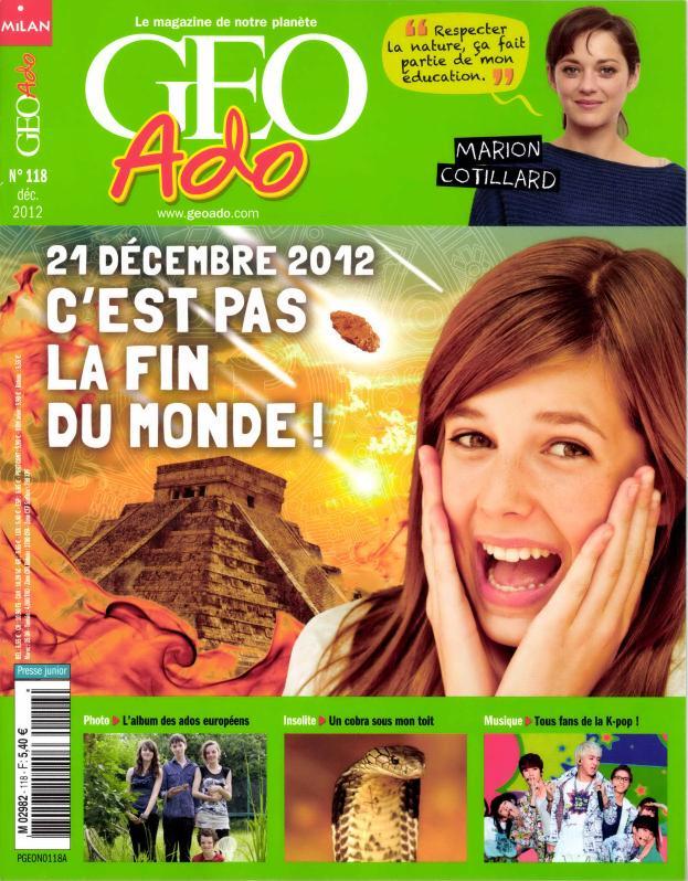 Géo Ado N° 203 Décembre 2019