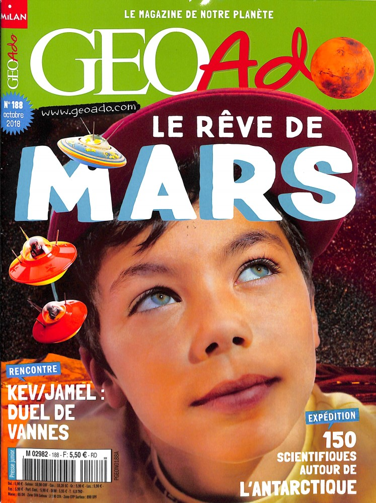 Géo Ado N° 188 September 2018