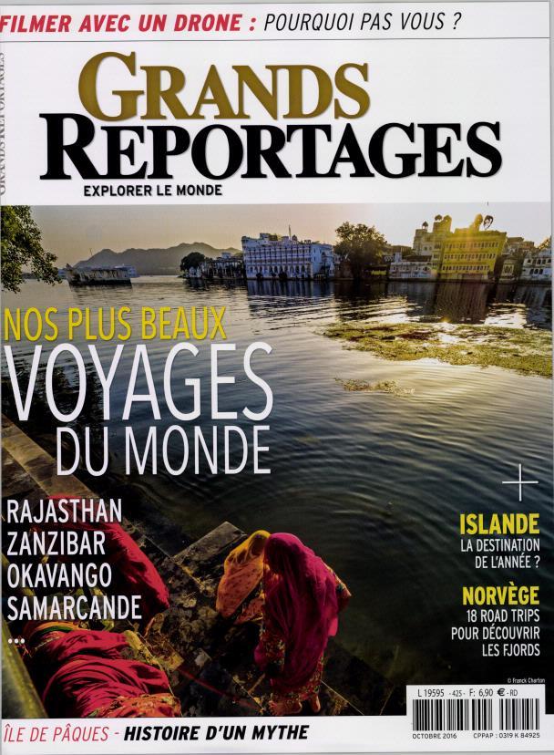 Grands Reportages N° 425 Septembre 2016