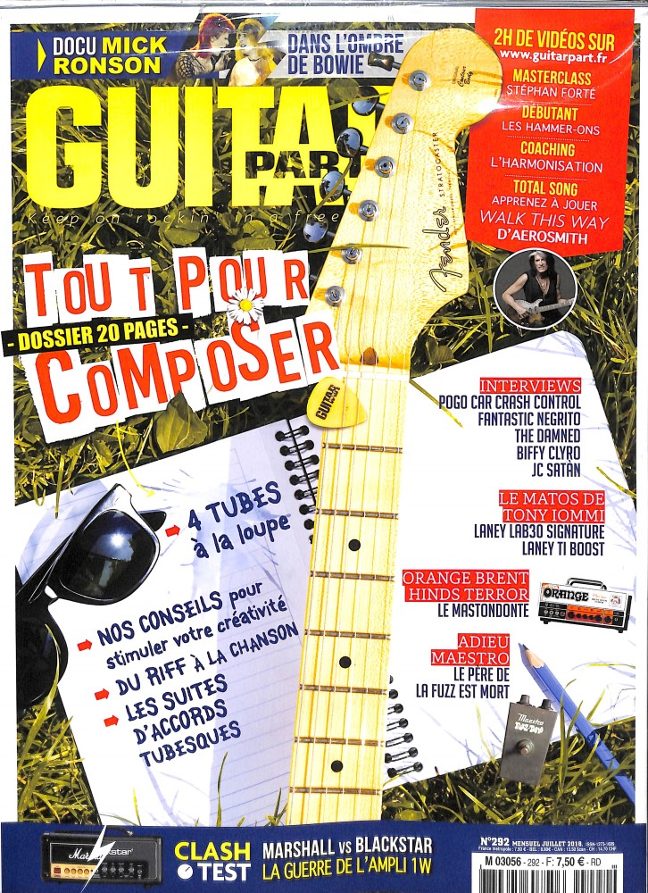 Achat et abonnement GUITAR PART - Revue, magazine, journal GUITAR PART - Keep on rockin' in a free world. - Economisez jusqu'à 44% GUITAR PART -50% pendant 6 mois sans engagement