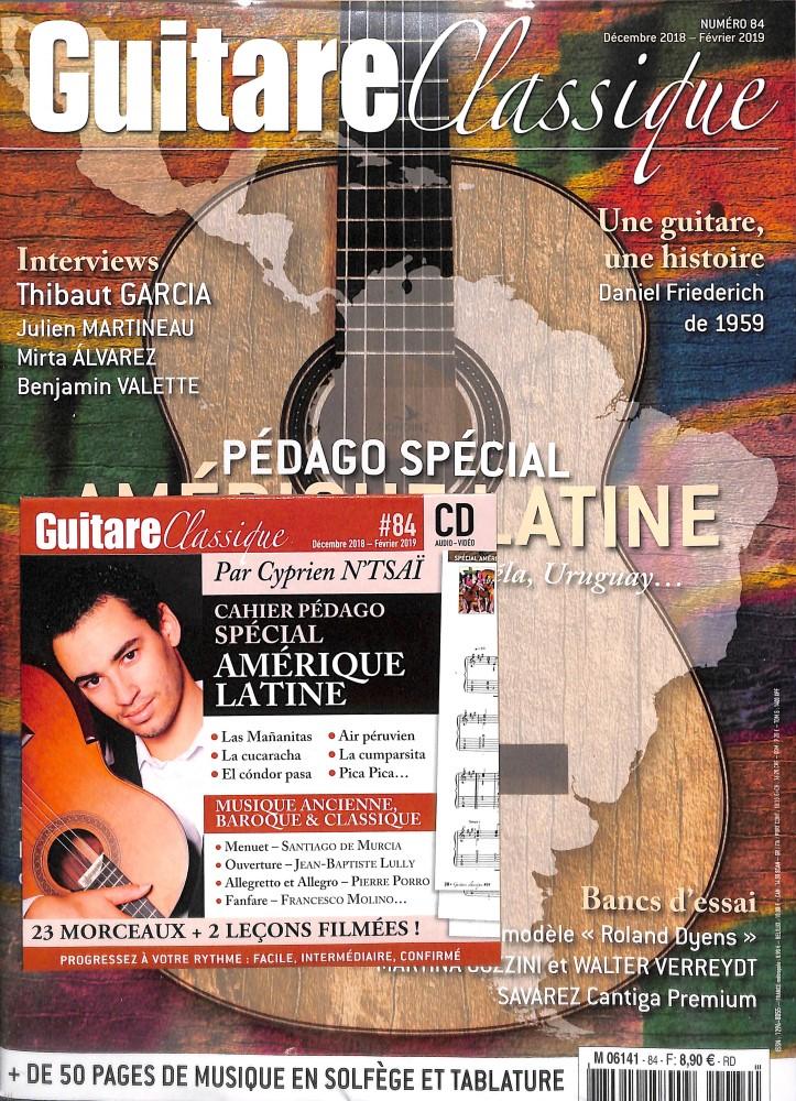 Abonement GUITARE CLASSIQUE - Musiques et partitions de guitare - Economisez jusqu'à 30% 1 an - 4 n° - Pour les amateurs de guitare c - Prix si achat au numéro : 31.6 € - Réduction : 24% !