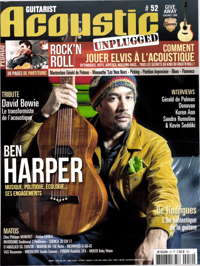 Guitarist Acoustic N° 52 Avril 2016