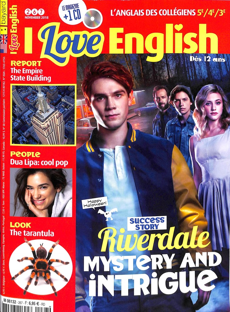 I love English ! N° 267 October 2018