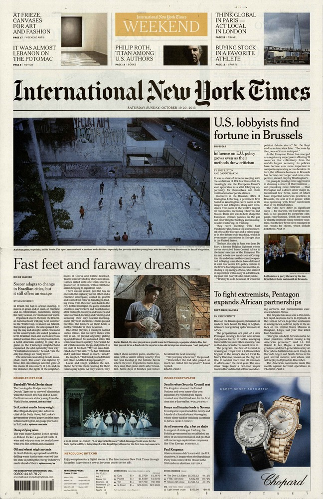 International New York Times N° 127 Janvier 2020