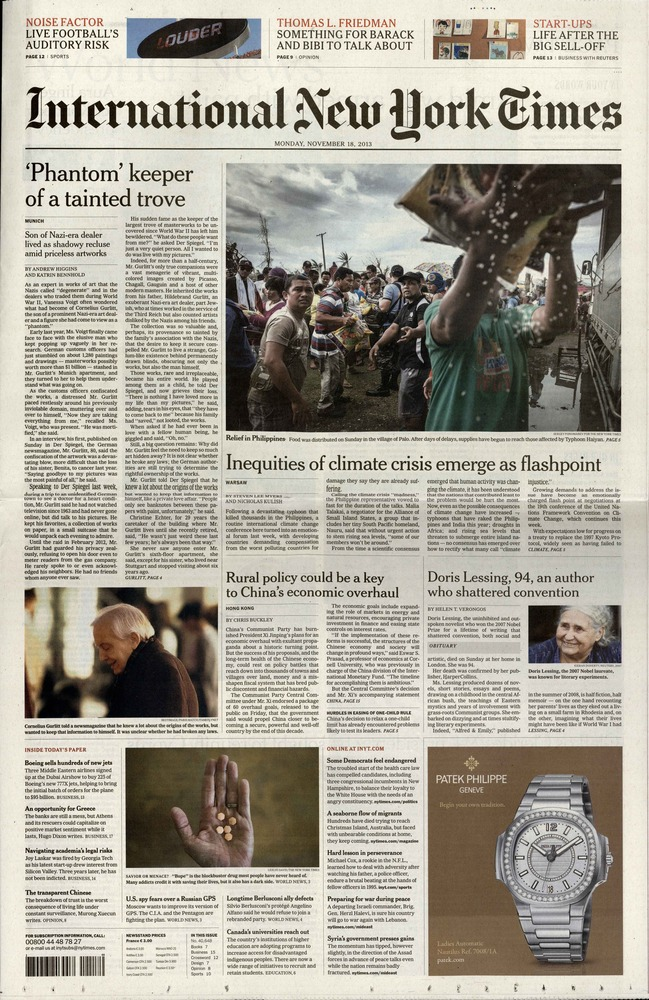 International New York Times N° 114 Janvier 2020