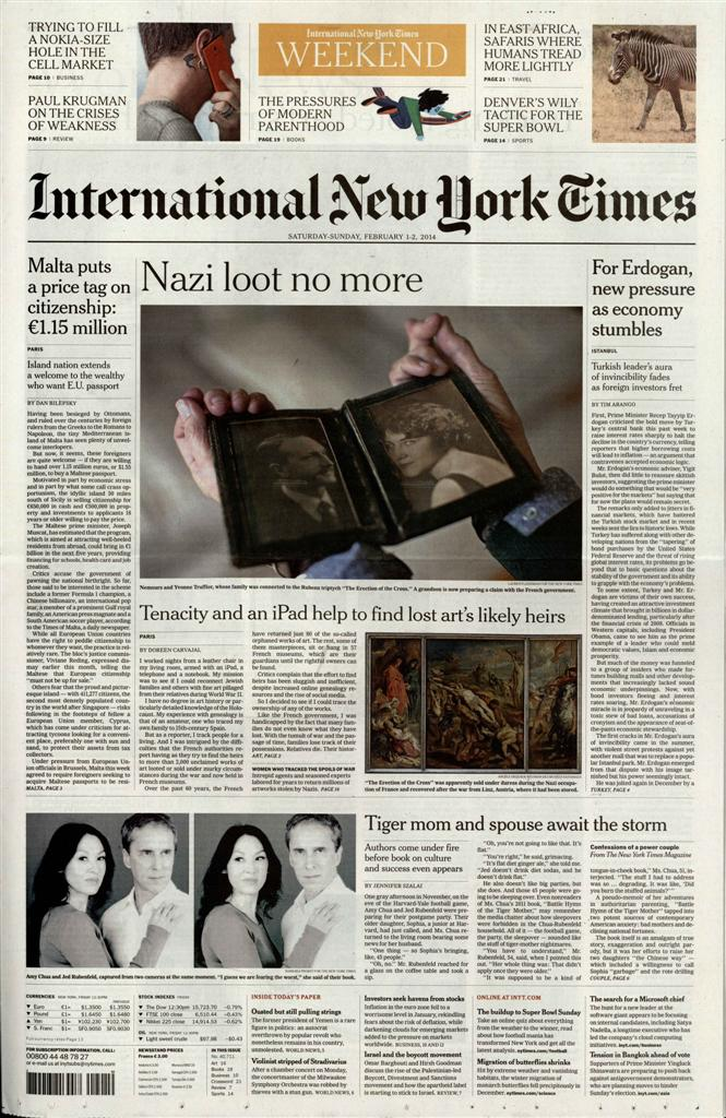 International New York Times N° 715 Juillet 2019