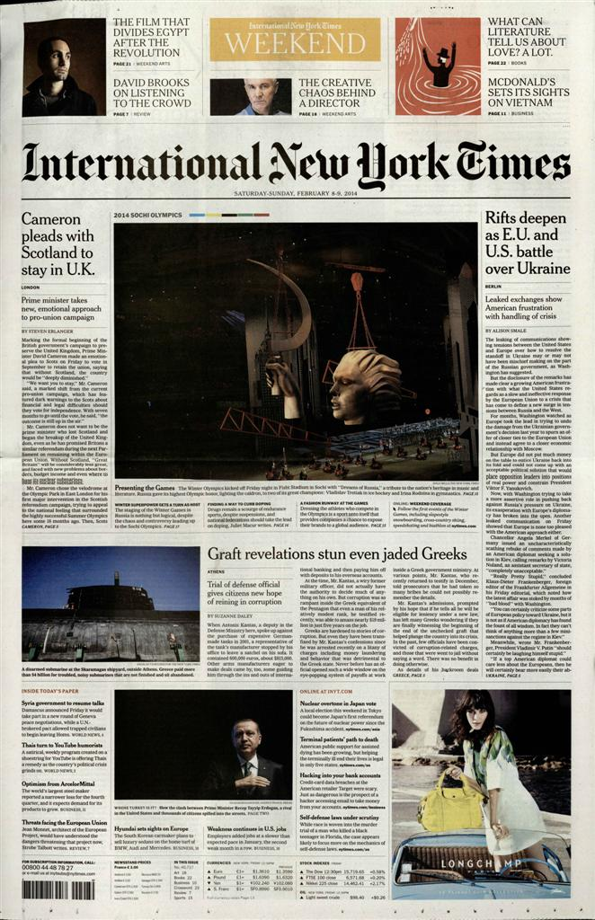 International New York Times N° 720 Juillet 2019