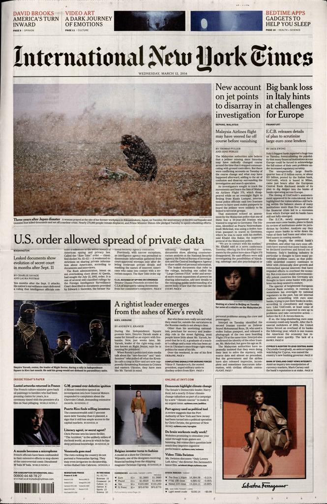 International New York Times N° 1014 Octobre 2019