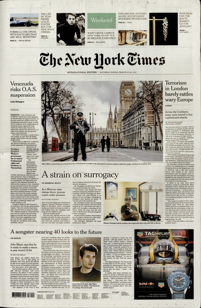 International New York Times N° 325 Mars 2017