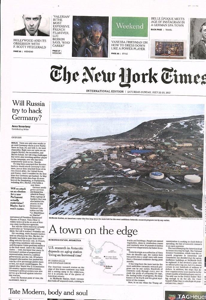 International New York Times N° 722 Juillet 2017