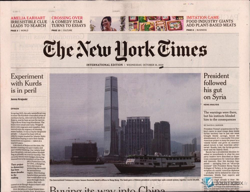 International New York Times N° 1016 Octobre 2019