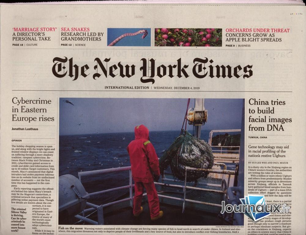 International New York Times N° 1202 Décembre 2019