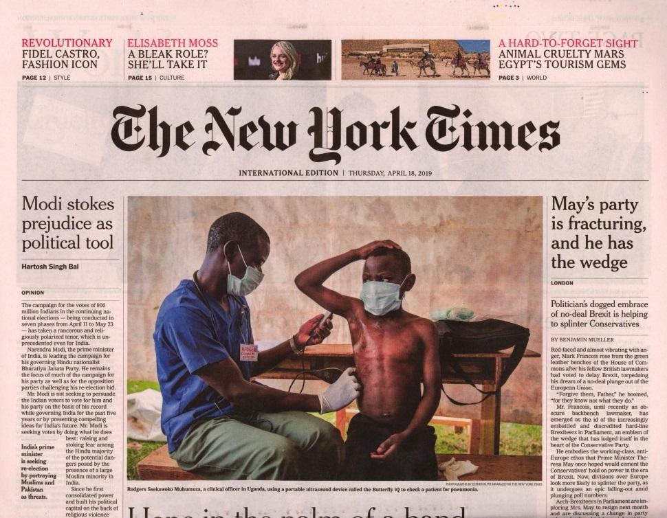 International New York Times N° 418 Avril 2019