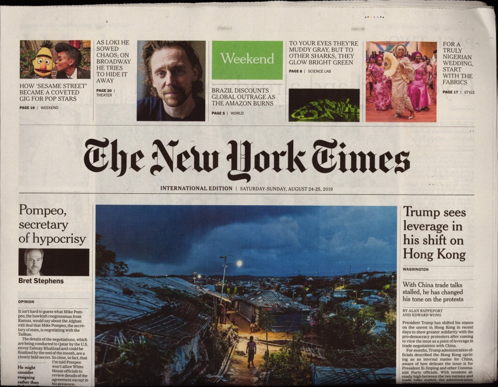 International New York Times N° 824 Août 2019