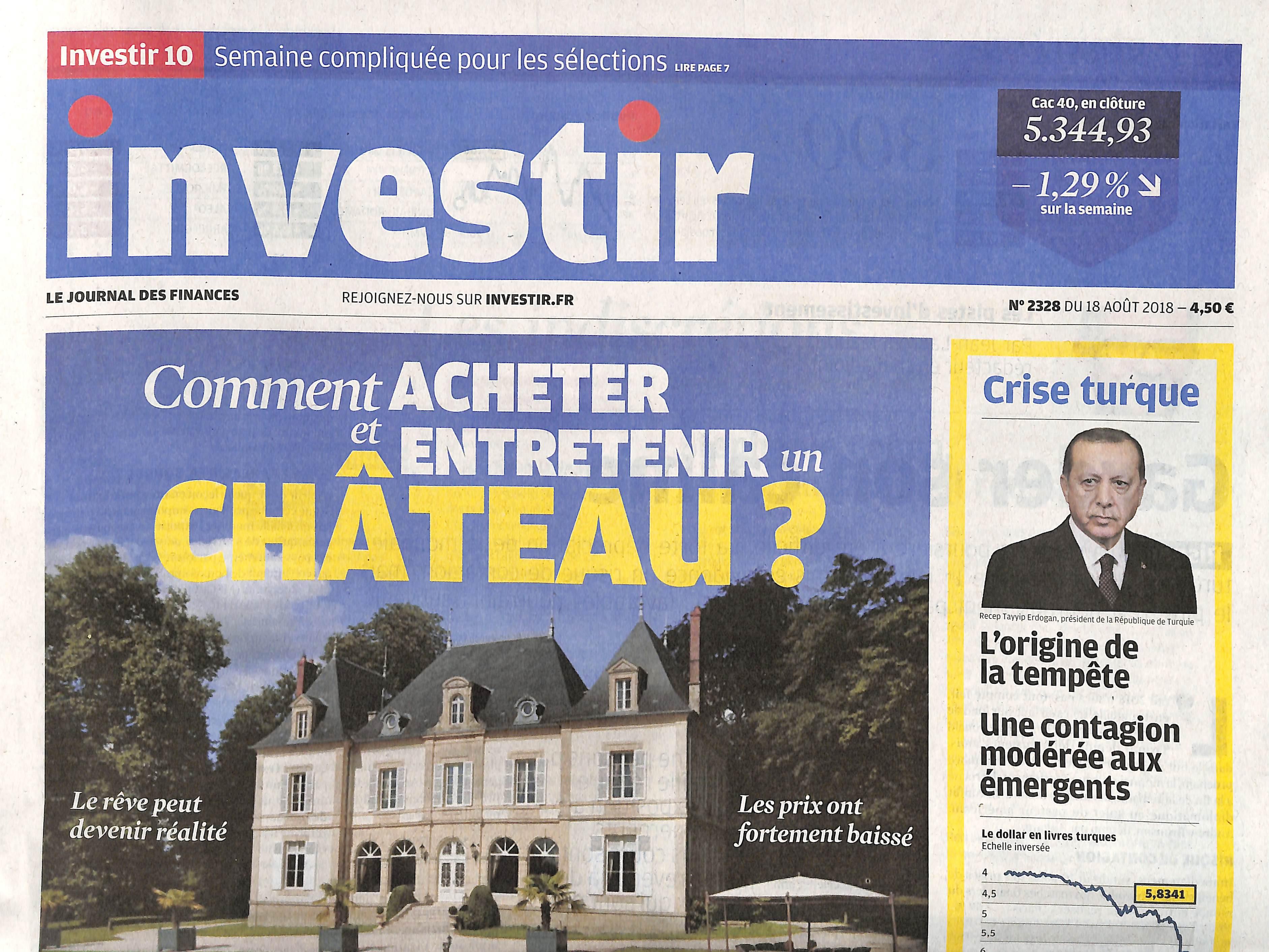 Investir - Le journal des finances N° 2328 August 2018