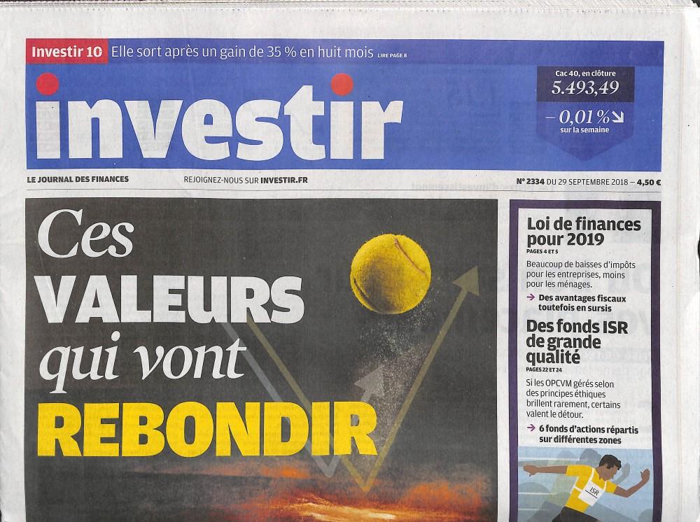 Investir - Le journal des finances N° 2403 Janvier 2020