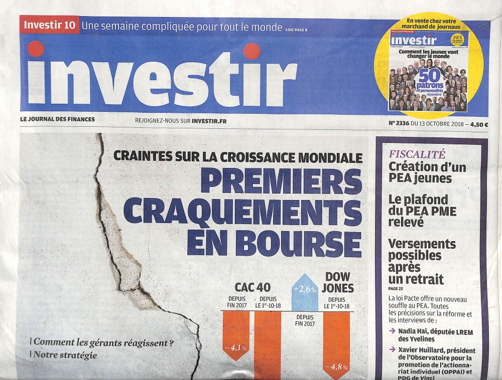 Investir - Le journal des finances N° 2336 October 2018