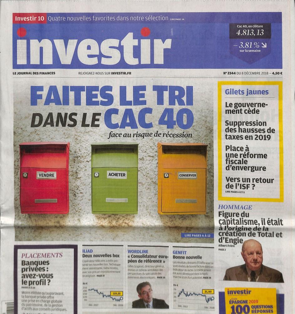 Investir - Le journal des finances N° 2344 December 2018