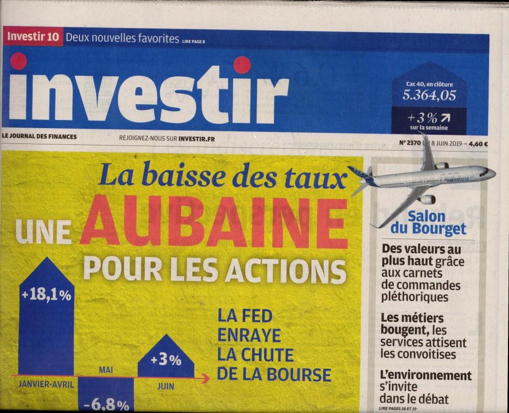 Investir - Le journal des finances N° 2401 Janvier 2020