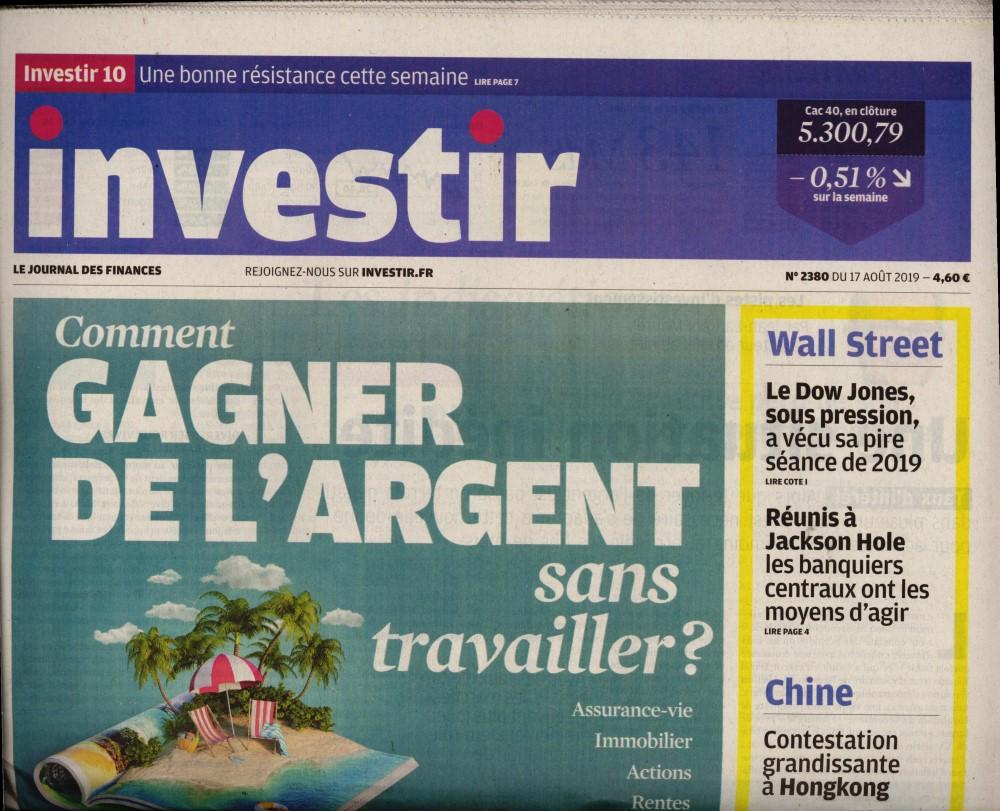 Investir - Le journal des finances N° 2380 Août 2019
