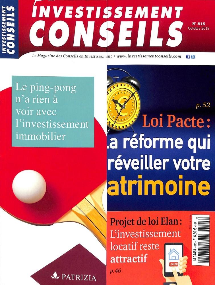 Investissement Conseils N° 815 October 2018