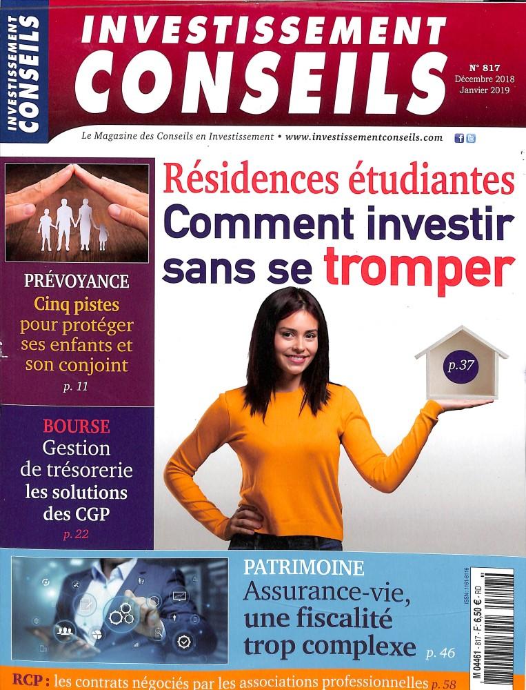Investissement Conseils N° 817 December 2018